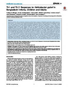 Th1 and Th17 Responses to Helicobacter pylori in