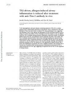 Th2-driven, allergen-induced airway inflammation is ... - BioMedSearch