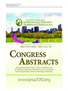 The 15th CONGRESS of the INTERNATIONAL ...
