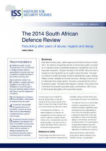 The 2014 South African Defence Review - Africa Portal