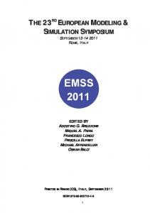 the 23rd european modeling simulation symposium