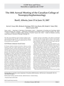 The 30th Annual Meeting of the Canadian College of ...