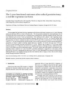 The 5-year functional outcomes after radical