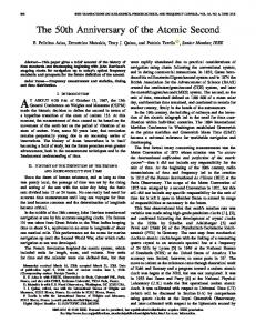 The 50th Anniversary of the Atomic Second - IEEE Xplore