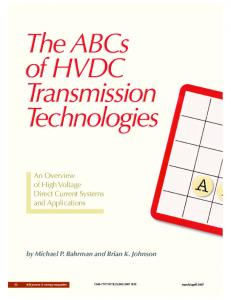 The ABCs of HVDC transmission technologies
