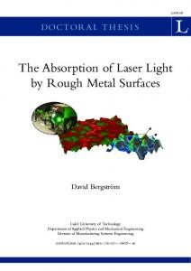 The Absorption of Laser Light by Rough Metal Surfaces