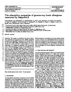 The absorption properties of gamma-ray burst afterglows measured by ...