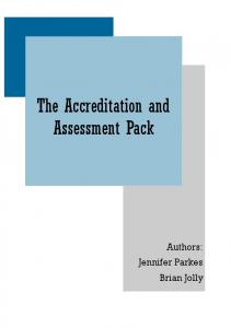 The Accreditation and Assessment Pack