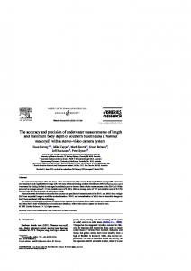 The accuracy and precision of underwater measurements of length ...