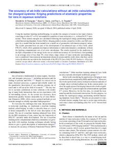The accuracy of ab initio calculations without ab initio ... - AIP Publishing