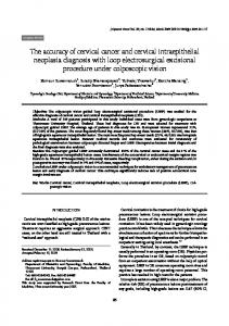The accuracy of cervical cancer and cervical intraepithelial neoplasia ...