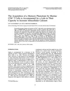 The Acquisition of a Memory Phenotype by Murine - NCBI