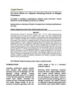 The Acute Effects of a Dynamic Stretching Protocol on Wingate ...