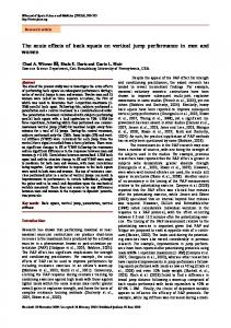 The acute effects of back squats on vertical jump performance in men ...