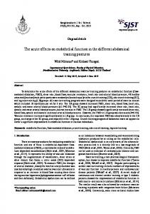 The acute effects on endothelial function in the different ... - RDO