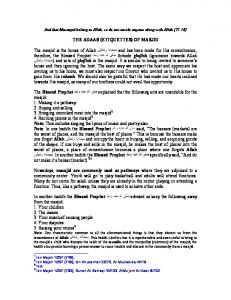 THE ADAAB (ETIQUETTES) OF MASJID The masjid ... - IslamEasy.org