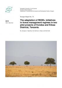 The adaptation of REDD+ initiatives in forest management ... - NMBU