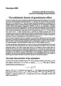 The adiabatic theory of greenhouse effect