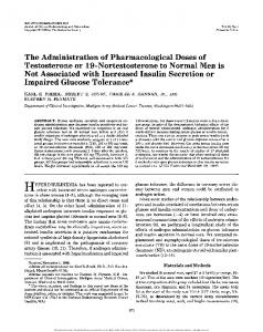 The Administration of Pharmacological Doses of ...