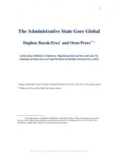 The Administrative State Goes Global - (SSRN) Papers