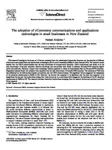 The adoption of eCommerce communications and applications ...