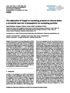 The adsorption of fungal ice-nucleating proteins ... - Atmos. Chem. Phys