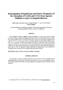 the Adsorption ofCr(III) and Cr(VI) from Aqueous