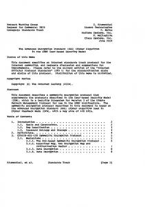 The Advanced Encryption Standard (AES) Cipher Algorithm in the