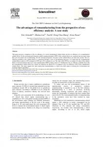 The Advantages of Remanufacturing from the ... - ScienceDirect
