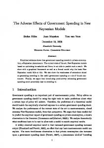 The Adverse Effects of Government Spending in New Keynesian Models