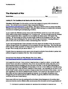 The Aftermath of War - EDSITEment