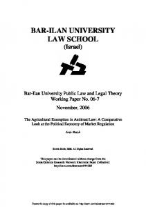 The Agricultural Exemption in Antitrust Law: A ... - SSRN papers