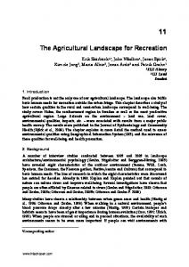 The Agricultural Landscape for Recreation
