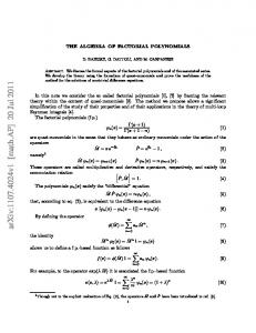 The algebra of factorial polynomials