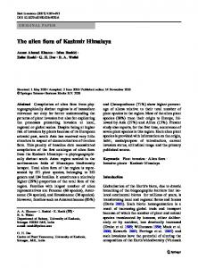 The alien flora of Kashmir Himalaya - Springer Link