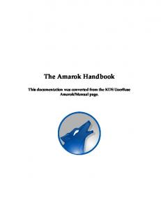 The Amarok Handbook - KDE Documentation