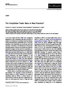 The Amphibian Trade: Bans or Best Practice? - Save the Frogs