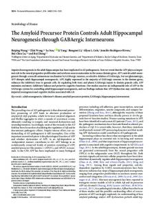 The Amyloid Precursor Protein Controls Adult Hippocampal ...