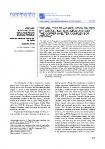 the analysis of air pollution caused by particle matter emission from ...
