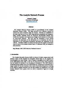 The Analytic Network Process
