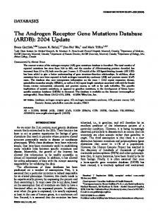 The androgen receptor gene mutations database ... - Semantic Scholar