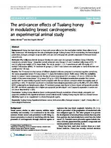 The anti-cancer effects of Tualang honey in ... - Semantic Scholar