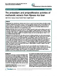 The antioxidant and antiproliferative activities of ... - BioMedSearch