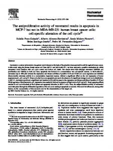 The antiproliferative activity of resveratrol results in apoptosis in MCF ...