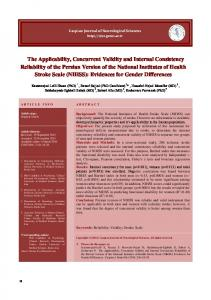 The Applicability, Concurrent Validity and Internal Consistency ...
