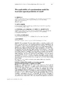 The applicability of a parsimonious model for local and ... - CiteSeerX