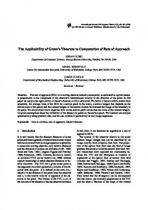 The Applicability of Green's Theorem to Computation of ... - CiteSeerX