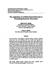 The Application of Artificial Neural Networks In ... - Semantic Scholar