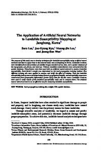 The Application of Artificial Neural Networks to ... - Springer Link