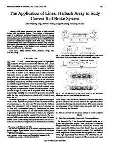 The application of linear Halbach array to eddy current rail brake system